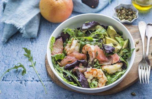Insalata gamberi, avocado e pompelmo