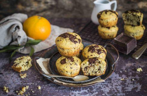 Muffin arancia e cioccolato: facilissimi