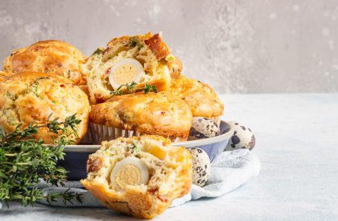 Muffin di Pasqua con uova sode
