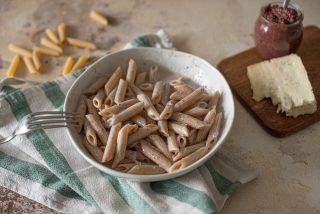 Pasta alla cenere: gorgonzola e olive