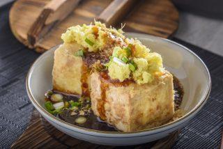 Tofu fritto giapponese: cremoso e croccante