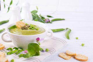 Crema di fave e piselli: primaverile