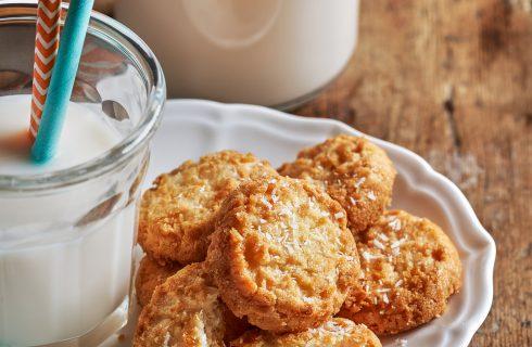 Biscotti cocco e limone, senza latte