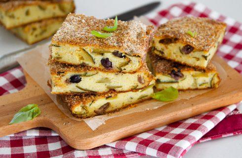Gattò di patate vegetariano con zucchine e olive