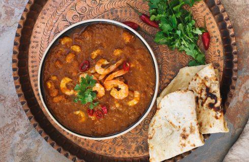 Curry masala con gamberi, profumo d'India