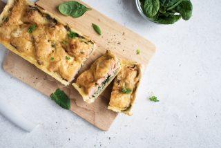 Torta salata salmone e spinaci: prelibata