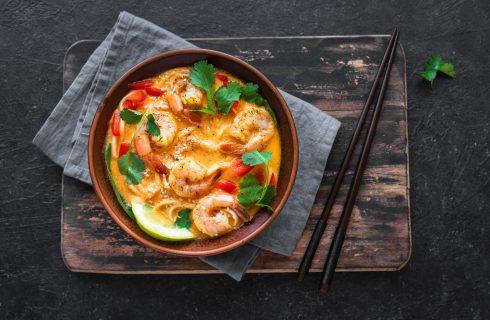 Curry rosso thai di gamberi, sapore d'Oriente