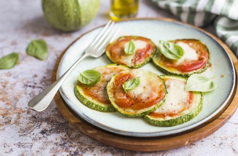 Pizzette di zucchine margherita