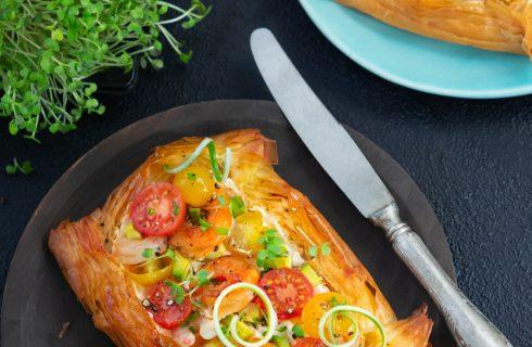 Torta salata con gamberi: mangiamo all'aperto