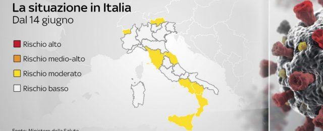 13 regioni in zona bianca: cosa cambia