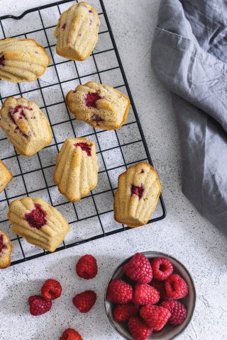 Madeleine ai frutti rossi, pasticceria francese