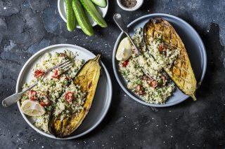 Melanzane ripiene di cous cous: Mediterraneo in tavola