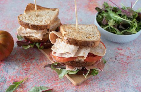 Club Sandwich di tacchino: tutto da mordere