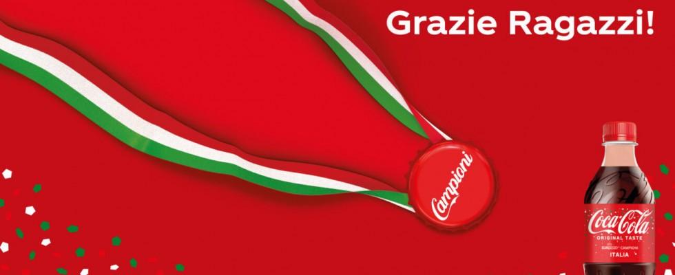 Coca Cola celebra la vittoria degli Azzurri agli Europei 2020 con una limited edition