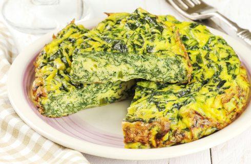 Frittata ricotta e spinaci: in padella