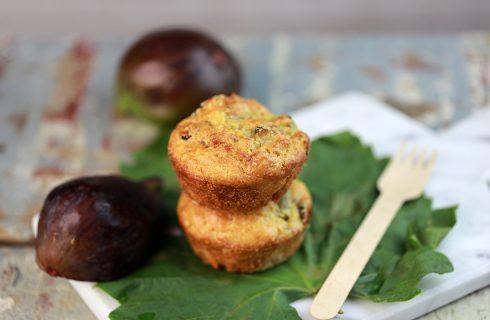 Muffin al prosciutto e fichi: tortine salate