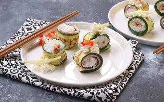 Sushi di zucchine, sfizioso finger food