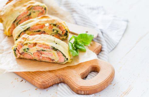 Strudel salato al salmone: per cena