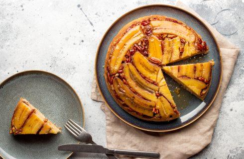 Torta rovesciata alle banane, dal sapore inconfondibile