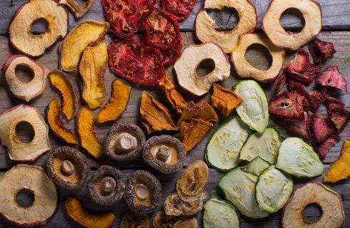 Frutta e verdura essiccata: snack perfetto