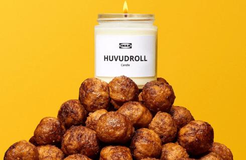 Nascono le candele al profumo di polpette Ikea